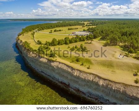 Saarema Island, Estonia: Panga or Mustjala cliff in the summer