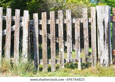 Old wooden fence #696766825
