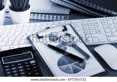 Business Objects in the office on the table #697305532