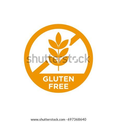 Gluten free vector icon. Isolated.