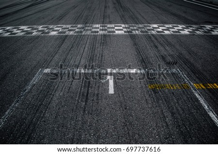 First place on the starting line Royalty-Free Stock Photo #697737616