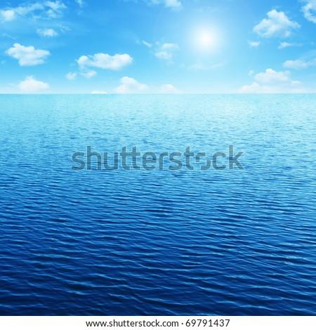 Blue sky,sun and sea. #69791437
