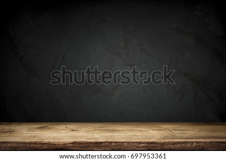 background of barrel and worn old table of wood #697953361