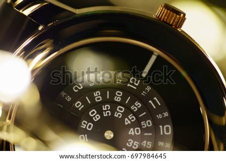 Close up of modern design wristwatch #697984645