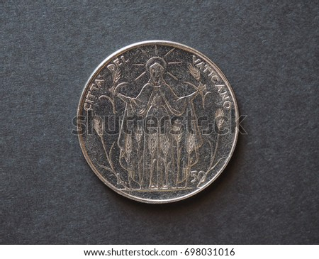 50 liras coin from Vatican released in 1968 #698031016