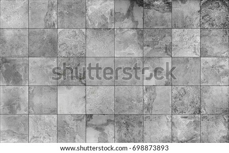 Slate tile ceramic, seamless texture square light gray map for 3d graphics #698873893