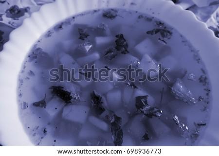 a bowl of soup #698936773