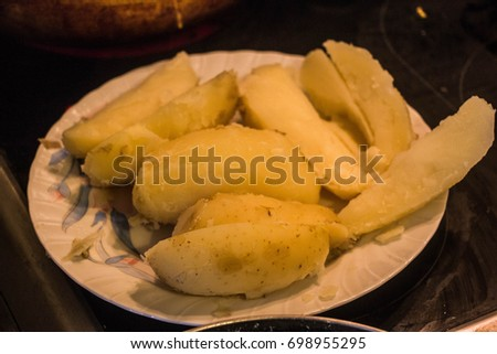Meatloaf and potatoes #698955295