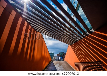Abstract modern architecture #699009013