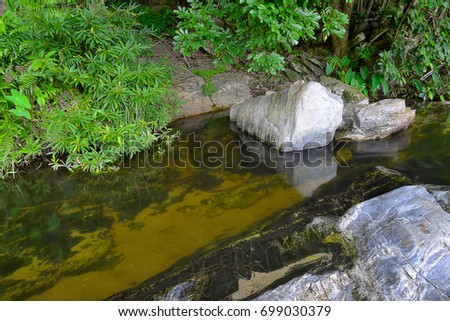 Waterfalls on the mountain, the origin of the river #699030379