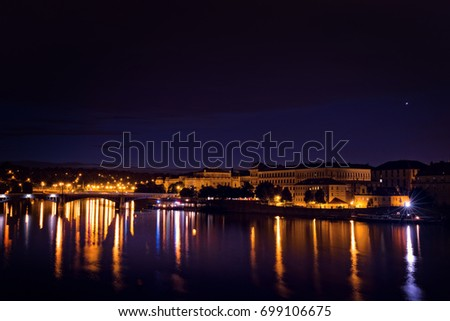 Prague at night #699106675
