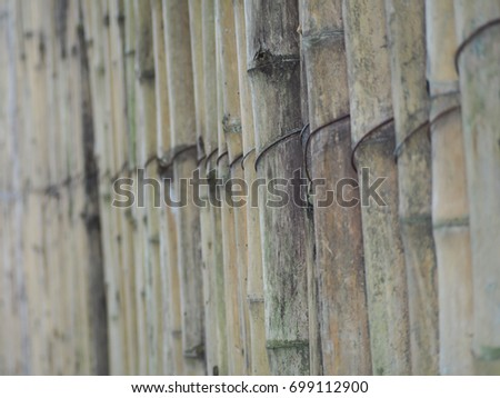 Beautiful line up of bamboo wood abstract background. #699112900