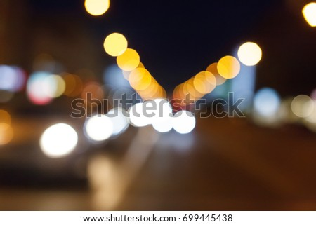 City night light bokeh and light blurred background #699445438