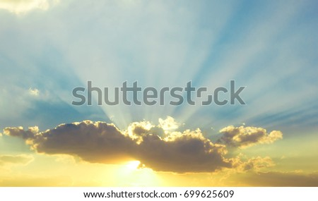 Burning Sunrise Cloudscape  #699625609