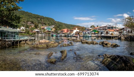 Barra da Lagoa area of Lagoa da Conceicao - Florianopolis, Santa Catarina, Brazil #699713074