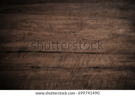 Old grunge dark textured wooden background,The surface of the old brown wood texture #699741490