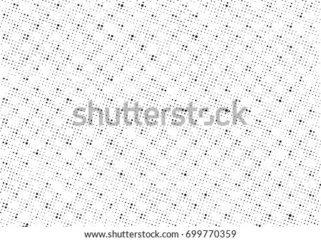 Grunge halftone black and white. Abstract black and white texture. Vintage grayscale monochrome #699770359