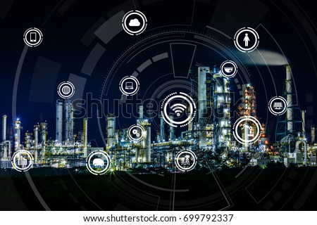 Smart factory concept. Internet of Things. Factory Automation. Sensor network. #699792337