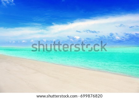 Beautiful sea beach at tropical resort #699876820
