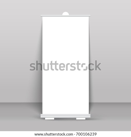 Roll up banner stand isolated on transparent #700106239