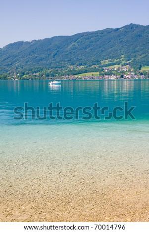 beuatiful alpine lake with crystal water #70014796