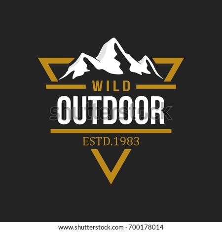 Outdoor logo design template Royalty-Free Stock Photo #700178014