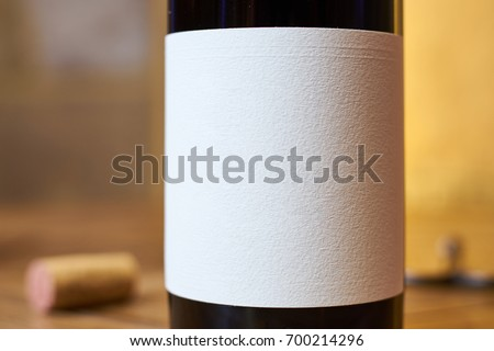 Close up photo from a wine bottle, with a clear editable label #700214296