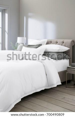 Beautiful interior modern bedroom #700490809