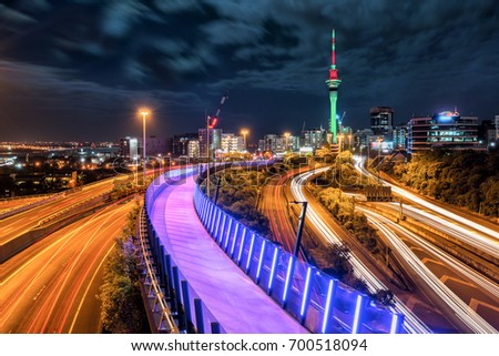 Auckland Sky Tower, the iconic landmark of Auckland, New Zealand. #700518094