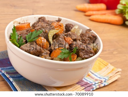 beef stew with celery and carrot #70089910
