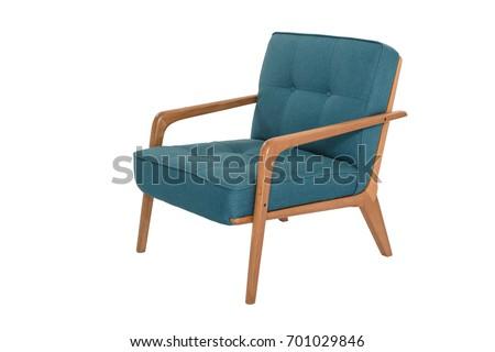 armchair. Modern designer chair on white background. Texture chair. #701029846