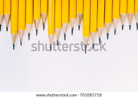 Pencils: Pattern of Pencils from Overhead