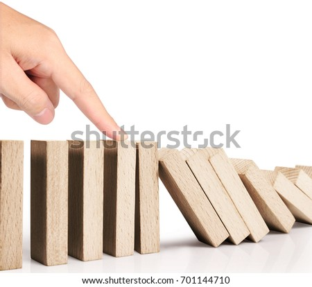 stop a dominoes continuous toppled #701144710
