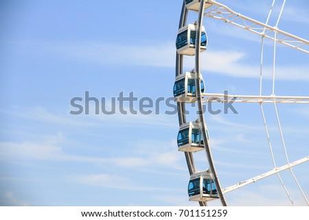 Ferris Wheel in Hong Kong #701151259
