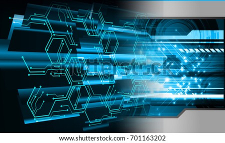 binary circuit future technology, blue cyber security concept background, abstract hi speed digital internet.motion move blur. pixel. #701163202