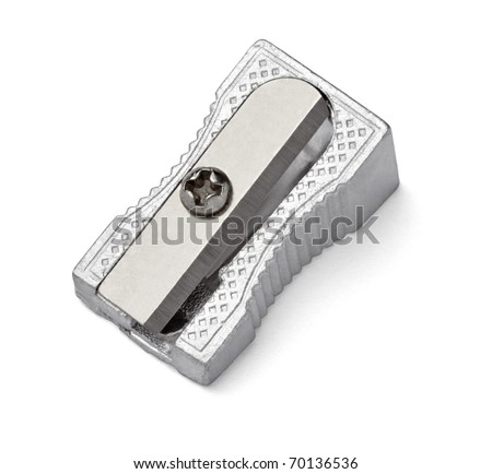 close up of a sharpener on white background with clipping path Royalty-Free Stock Photo #70136536