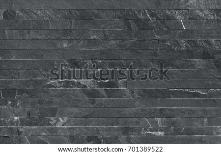 Strip parallels stone wall cladding, seamless texture gray map for 3d graphics