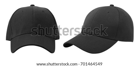 Baseball cap isolated on white background. Front and side view. #701464549