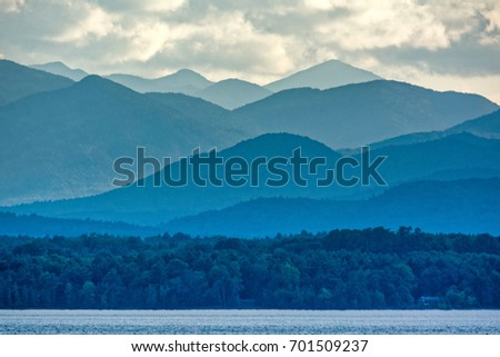 Adirondacks Mountains from Lake Champlain #701509237