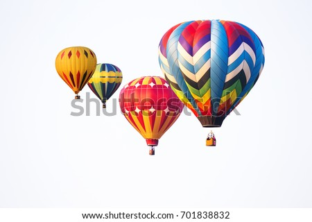 hot air balloons on white background #701838832