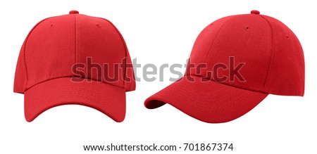 Baseball cap isolated on white background. Front and side view. #701867374