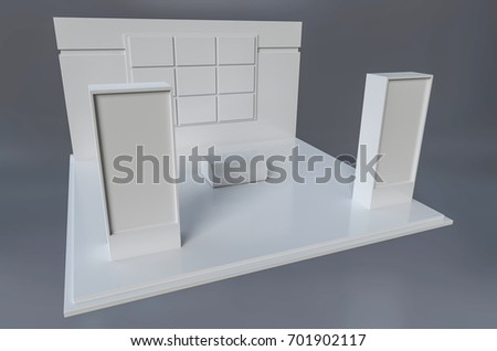 Exhibition stand template for branding and design . 3d illustration #701902117