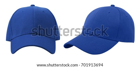 Baseball cap isolated on white background. Front and side view. #701913694