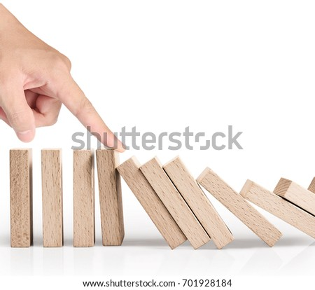stop a dominoes continuous toppled #701928184