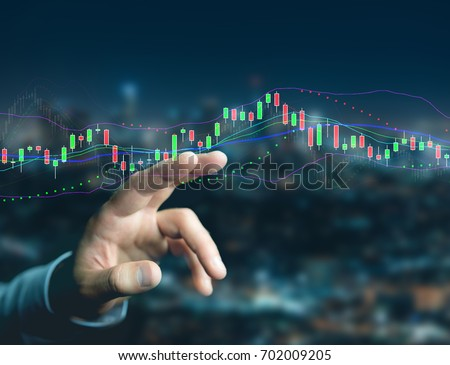 View of a Trading forex data information displayed on a stock exchange interface - Finance concept Royalty-Free Stock Photo #702009205