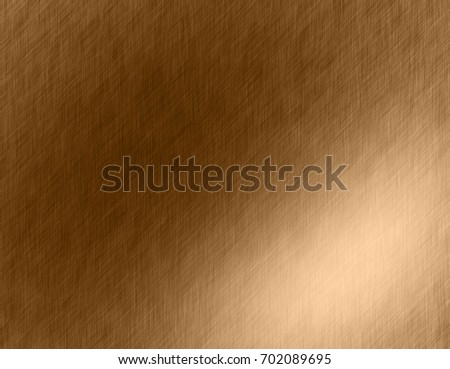 Gold metal brushed background or texture of brushed steel plate with reflections Iron plate and shiny #702089695