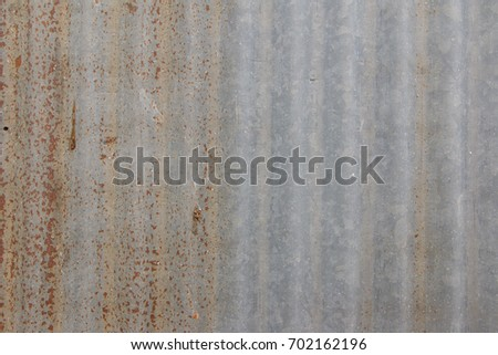 Zinc surface rusted from old applications. #702162196