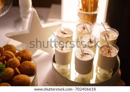 Sweet beautiful yogurt candy bar for kids party #702406618