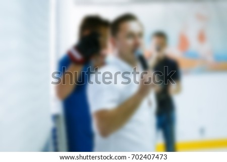 De-focused Training of young hockey players #702407473
