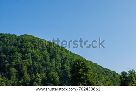 tops of the mountains close up #702430861